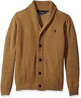 U.S. Polo Assn. Men's Seed Stitch Texture Shawl Cardigan Sweater