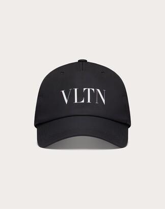 Valentino Garavani Uomo Vltn Baseball Cap Man Black/white Polyester 100% 57