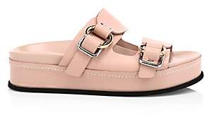 3.1 Phillip Lim Women's Freida Buckle Leather Flatform Sandals