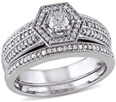 Allura 1/2 CT. T.W. Diamond Bridal Ring Set in 14K White Gold (GH I1-I2)