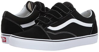 Vans Old Skooltm V ((Suede/Canvas) Black/True White) Skate Shoes