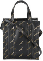 Balenciaga Black Gold Logo Bazar Shopper XS