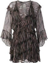 IRO sheer Canyon ruffled dress