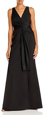 Aidan Mattox Aidan by Adian Mattox Draped Mermaid Crepe Dress