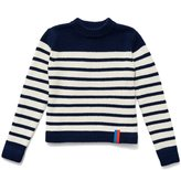 Kule The Ship Cashmere Sweater - Navy/Cream