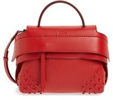 Tod's 'Micro Wave' Leather Satchel - Red