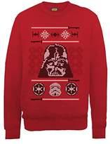 Star Wars Men's Christmas Dart Vader Head Knit Sweatshirt
