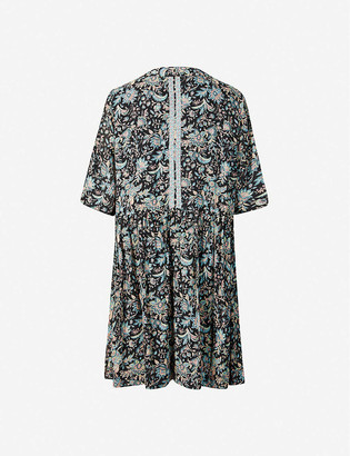 BA&SH Boho floral-print woven mini dress