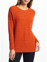 John Lewis Mixed Rib Drop Sleeve Cashmere Jumper
