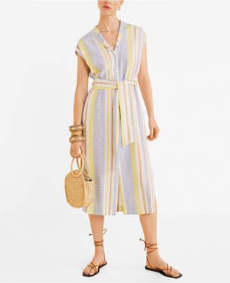 MANGO Striped Shirt Dress