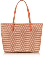 Lancaster Paris Ikon Coated Canvas and Leather Large Tote Bag