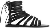 Ancient Greek Sandals Galatia Leather Sandals - Black