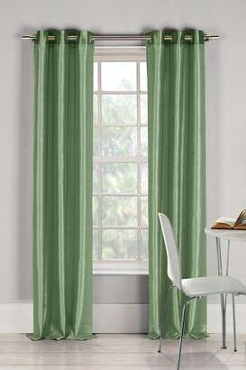 Duck River Textile Bali Faux Silk Grommet Curtains - Set of 2 - Sage