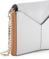 Pour La Victoire Provence Zip-Front Crossbody Bag, White