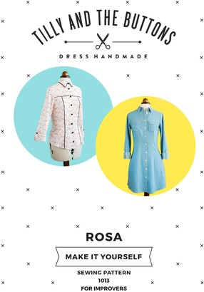 Tilly and the Buttons Rosa Shirt And Shirt Dress Sewing Pattern