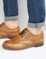 Red Tape Premium Brogues In Tan Leather