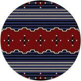 Dakota American Big Chief2 Rug, Blue, 8'x8' Round, Round