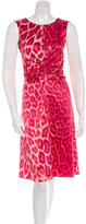 Just Cavalli Leopard Print A-Line Dress