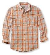 L.L. Bean Men's Tropicwear Shirt, Plaid Long-Sleeve
