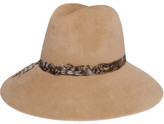 Eugenia Kim Farrah Feather-trimmed Rabbit-felt Fedora - Camel