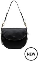 Radley Pudding Lane Black Medium Flapover Shoulder Bag