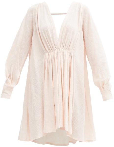 Kalita Always The Muse Cotton-gauze Tunic Dress - Light Pink