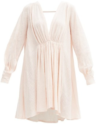 Kalita Always The Muse Cotton-gauze Tunic Dress - Light Pink