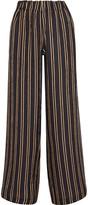Paul & Joe Vertige Striped Crinkled-silk Crepe Wide-leg Pants