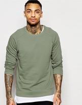 Asos Sweatshirt In Light Khaki
