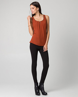 Le Château Chiffon & Jersey Scoop Neck Tank Top