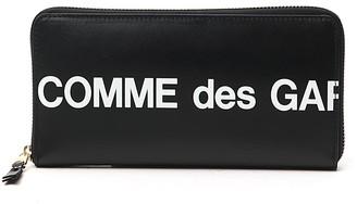 Comme des Garcons Zip Around Logo Wallet
