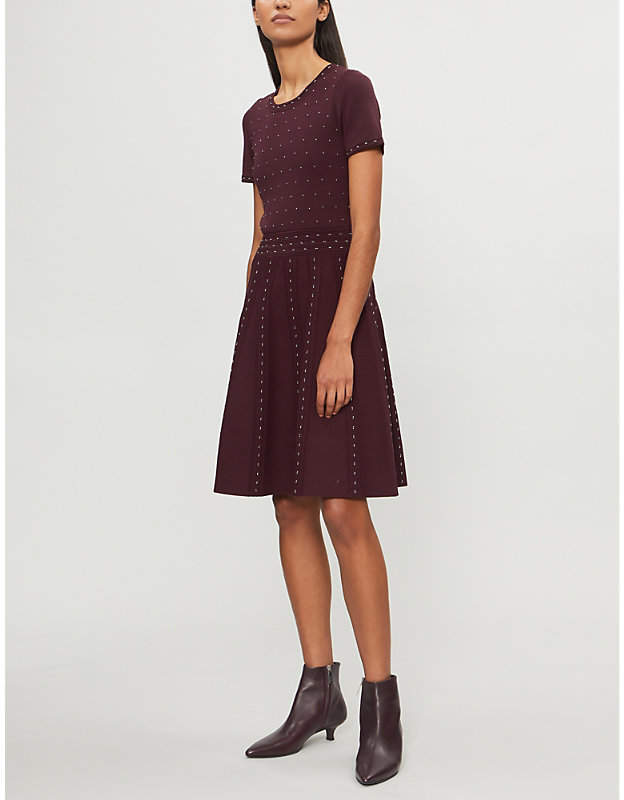 Sandro Bead-embellished knitted dress
