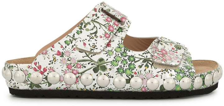 Giambattista Valli floral open-toe sandals