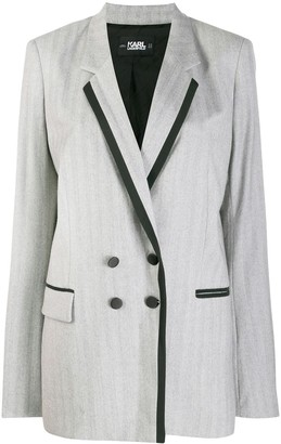 Karl Lagerfeld Paris Tailored Double-Breasted Jacket