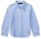 Ralph Lauren 2-6X Striped Knit Oxford Shirt