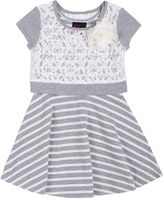 Little Lass Girls Rule Popover Dress - Toddler Girls 2t-4t