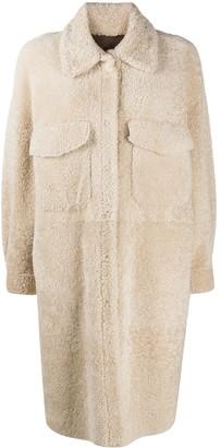 Simonetta Ravizza Shearling Mid-Length Coat