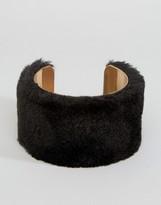 Asos Faux Fur Cuff Bracelet