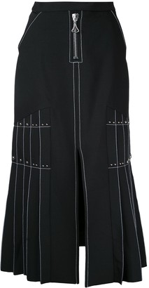 Ellery Pleated Side Maxi Skirt