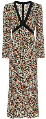 Rixo Tania floral crepe midi dress