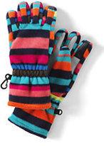 Lands' End Girls 200 Fleece Gloves-Crisp Burgundy