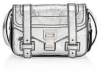 Proenza Schouler Women's Mini PS1+ Zip-Around Metallic Leather Crossbody Bag