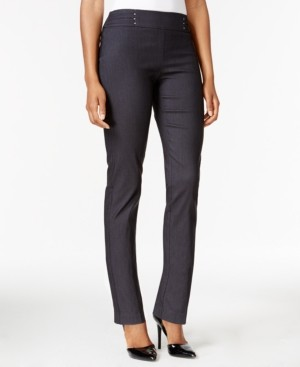 JM Collection Studded Pull-On Tummy Control Pants, Regular, and Short Lengths, Created for Macy's