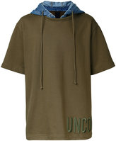 Juun.J hooded t-shirt - men - Cotton - 46