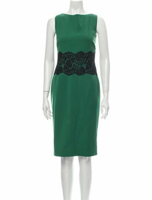 Valentino Techno Couture Knee-Length Dress Green