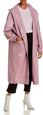 AERON Delilah Faux Leather Long Jacket