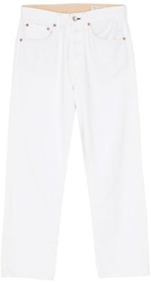 Rag & Bone Maya High Rise Ankle Straight Jean in Worn White