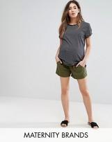 Mama Licious Mama.licious Mamalicious Linen Shorts