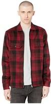 AllSaints Medora Long Sleeve Shirt (Red) Men's Clothing
