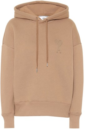 AMI Paris Logo cotton-blend hoodie